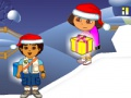 Dora & amp; Diego. Chistmas lahjat